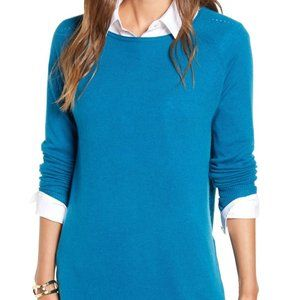 NWT Halogen Boatneck Wool & Cashmere Tunic Top